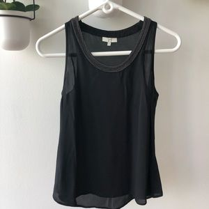Joie black top with small bead detail
